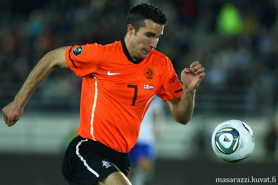 Robin van Persie of Netherlands During Finland-Netherland UEFA euro 2012 Qualifers 6th Septemper 2011 at Olympic Stadium in Helsinki Finland..Photo: Matti Raivio/EASTPRESS
